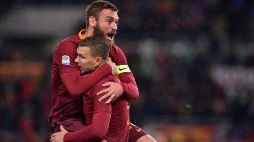 roma-cagliari-dzeko-de-rossi-gol-esultanza